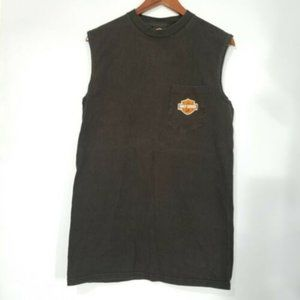 HARLEY-DAVIDSON| Men Sleeveless Top Embroidered M